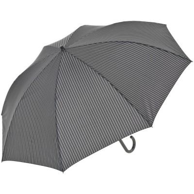 メンズ 【在庫限り】セブンプレミアムライフスタイル 風に強い回転長傘 プリント ブラックストライプ