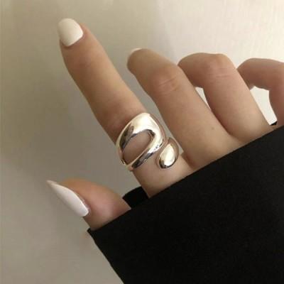 リング 不規則 シルバーカラー 指輪 アクセサリー ヒップホップ ジュエリー ジュエル jewel レゲエ クラブ メンズ 男女兼用 HIPHOP ヒップホップ系 ストリート系