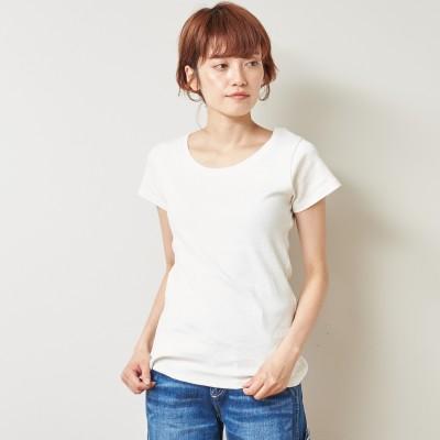 フライス生地でしっかりした綿混半袖Tシャツ【M―4L】(manoamano/マノアマノ)