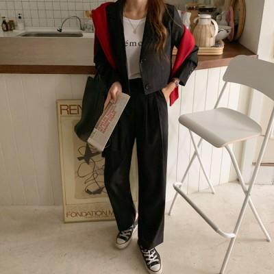 108811メイモノジャケットスラックスセットアップ[ontheriver] 送料0円! 大人可愛いデイリールック。韓国ファッションNo.1