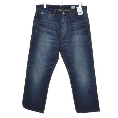 EDWIN エドウィン 裾上げ有り パンツ サイズ34 メンズ 綿100%牛革 ブルー