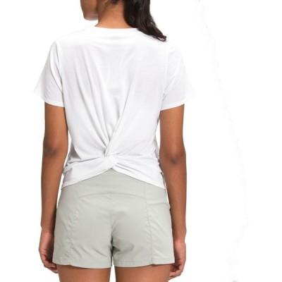 ノースフェイス シャツ トップス レディース The North Face Women's Wander Twist Back T-Shirt TNFWhite