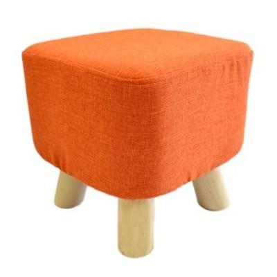 さいころスツール ロータイプ オレンジ 完成品 生活用品 インテリア 雑貨 椅子 スツール ベンチ[▲][TP]