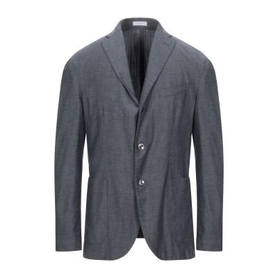 ボリオリ BOGLIOLI テーラードジャケット ブルーグレー 52 バージンウール 52% / コットン 25% / ナイロン 13% / モヘヤ
