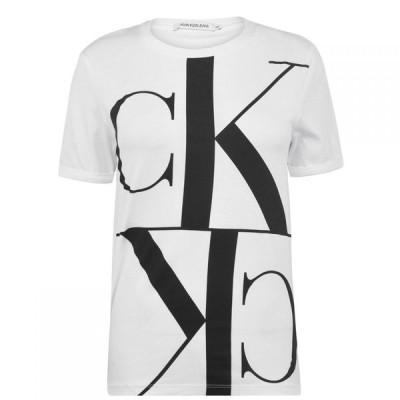カルバンクライン Calvin Klein Jeans レディース Tシャツ トップス Mono Mirror T Shirt BRIGHT WHITE