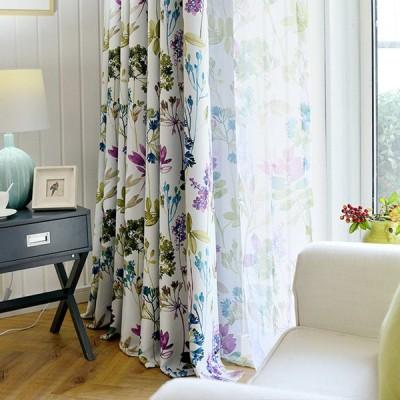カーテン おしゃれ 植物柄 断熱 オーダー ドレープ 安い 可愛い 厚手 明るい ナチュラル 北欧 保温 花 葉 お得なサイズ プレゼント 鮮やか 出窓
