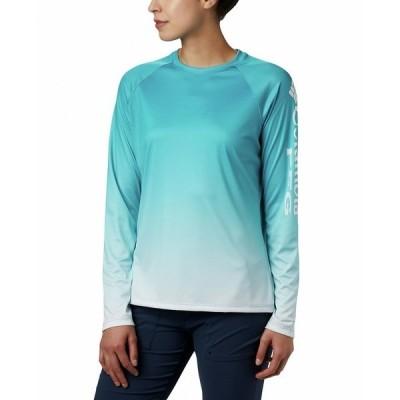 コロンビア カットソー トップス レディース Plus Size PFG Super Tidal Printed Active T-Shirt Clear Water Gradient