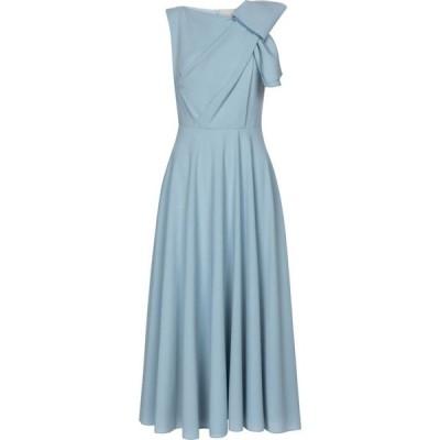 ロクサンダ Roksanda レディース パーティードレス ミドル丈 ワンピース・ドレス brigitte bonded crepe midi dress Perriwinkle