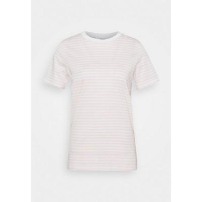 セレクテッドフェム Tシャツ レディース トップス SFMY PERFECT TEE BOX CUT - Print T-shirt - primrose pink/snow white