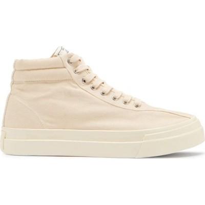 エス ダブリュー シー Stepney Workers Club メンズ スニーカー シューズ・靴 Varden high-top canvas trainers Cream