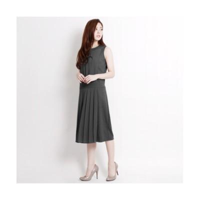 MARTHA(マーサ) フロントプリーツポンチワンピース (ワンピース)Dress
