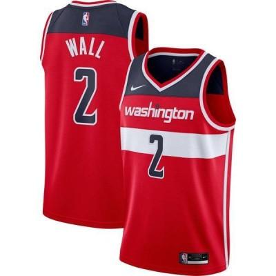 ナイキ メンズ シャツ トップス Nike Men's Washington Wizards John Wall #2 Red Icon Jersey
