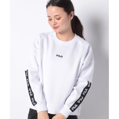 (FILA/フィラ)PEダンボールクルーシャツ/レディース ホワイト