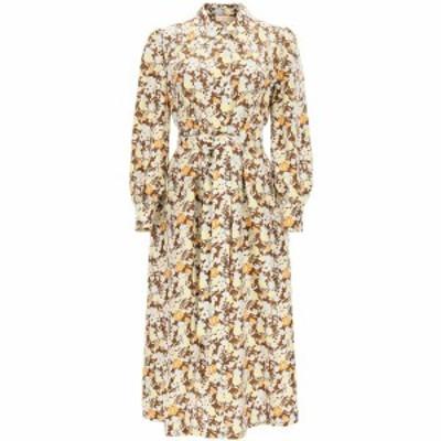 TORY BURCH/トリー バーチ Mixed colours Tory burch long shirt dress in floral silk レディース 春夏2021 81183 ik