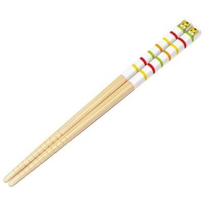竹箸 16.5cm しまじろう すべり止め加工 子供用 キャラクター ( 竹安全箸 子供用お箸 はし )