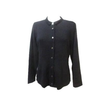 【中古】セシオセラ CECI OU CELA ニット カットソー 長袖 衿付き 黒 ブラック M ウール レーヨン X レディース 【ベクトル 古着】