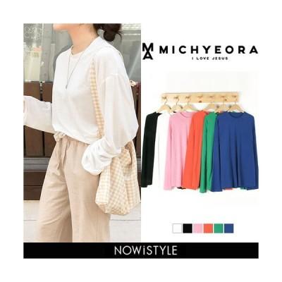 韓国 ファッション Tシャツ レディース おしゃれ 半袖 シンプルワイドTシャツ