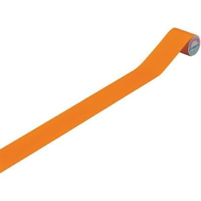 配管識別テープ 蛍光オレンジ 50mm幅×2m エンビ 187203 日本緑十字
