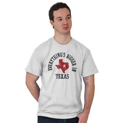 ユニセックス 衣類 トップス Map Short Sleeve T-Shirt Tees Tshirts Bigger In Texas Lone Star State TX Cowboy Tシャツ