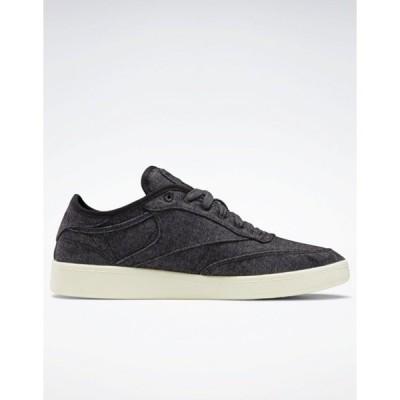 リーボック メンズ スニーカー シューズ Reebok Club C wool sneakers in black Black
