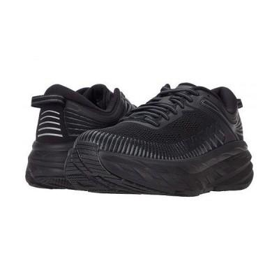 Hoka One One ホカオネオネ メンズ 男性用 シューズ 靴 スニーカー 運動靴 Bondi 7 - Black/Black