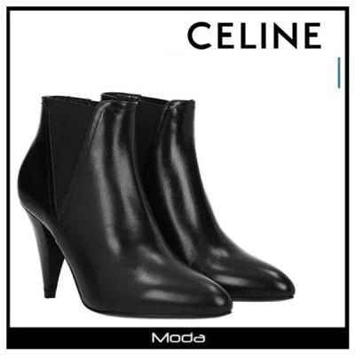 セリーヌ ショートブーツ レディース 黒 ブラック CELINE 靴 サイドゴア