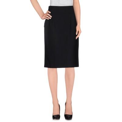 ブルー レ・コパン BLUE LES COPAINS ミディスカート ブラック 46 ポリエステル 53% / バージンウール 44% / ポリウレ