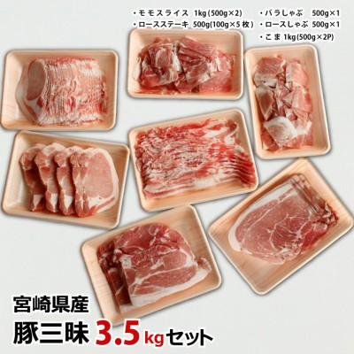 宮崎県産 豚三昧3.5kg バラエティセット ※90日以内に出荷