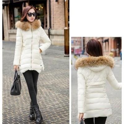 ロング中綿コートレディースロングコートパーカ大きいサイズ冬服防寒中綿中綿コートアウター軽量