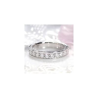ダイヤモンド エタニティ リング プラチナ pt950 1.0ctUP ダイヤ 指輪 Hカラー SIクラス フチあり H&C