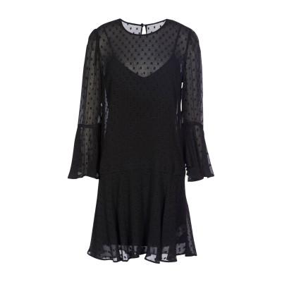VERONICA BEARD ミニワンピース&ドレス ブラック 6 シルク 80% / レーヨン 20% / コットン / ポリウレタン ミニワンピ