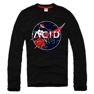 E1SYNDICATE PREMIUM LONGSLEEVE ACID FLOWER ERGOT 4640 Black