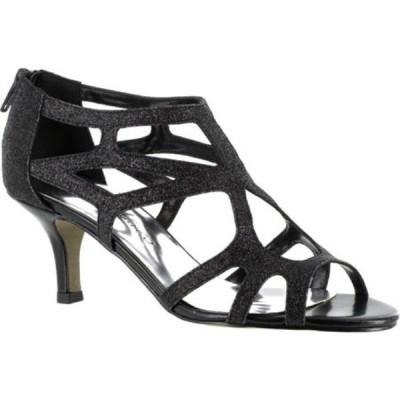 イージーストリート Easy Street レディース サンダル・ミュール シューズ・靴 Flattery Easy Flex Black Glitter