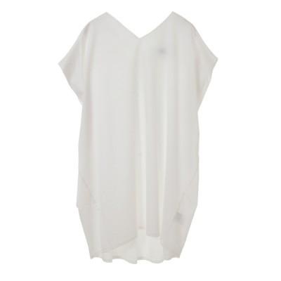 tシャツ Tシャツ フレンチスリーブチュニック丈プルオーバー