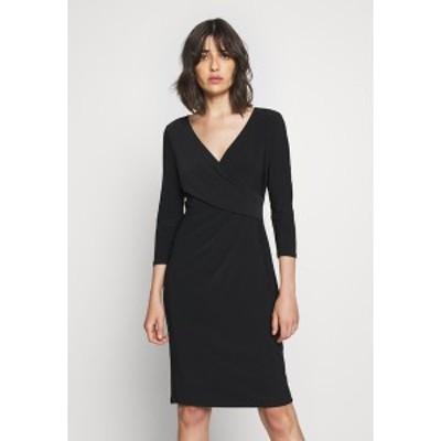 ラルフローレン レディース ワンピース トップス MID WEIGHT DRESS - Shift dress - black black