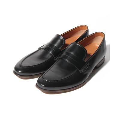 【クラウン製靴】 ローファー メンズ ブラック 24.5 CROWN SHOE CO.、LTD.
