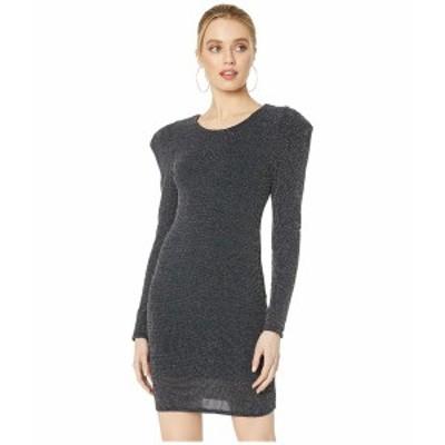 BCBジェネレーション レディース ワンピース トップス Cocktail Puff Sleeve Bodycon Knit Dress Black