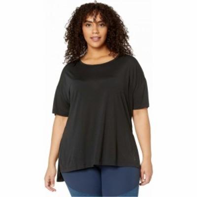 ナイキ Nike レディース トップス 大きいサイズ Plus Size Yoga Layer Short Sleeve Top Black/Dark Smoke Grey