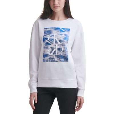カルバンクライン レディース シャツ トップス Reflecting Pool Logo Sweatshirt