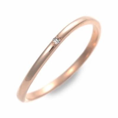リング 指輪 レディース LOVERS&RING ピンクゴールド ダイヤモンド 4月の誕生石 誕生日プレゼント ギフト