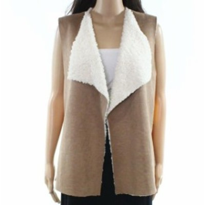 RUBY  ファッション 衣類 Ruby Rd. NEW Brown Womens Size Medium PM Petite Faux Suede Vest Jacket