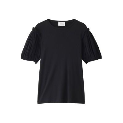 ANTIPAST アンティパスト メッシュスリーブコットンフライスTシャツ レディース ブラック ONE SIZE