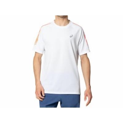 アシックス:【メンズ】ランニングアイコンショートスリーブトップ【asics スポーツ トレーニング 半袖 Tシャツ】
