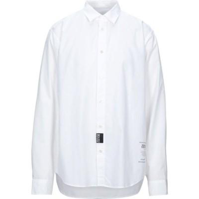 ヴェルサーチ VERSACE JEANS メンズ シャツ トップス solid color shirt White