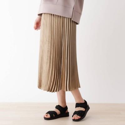 シューラルー SHOO-LA-RUE キラキラプリーツスカート (ゴールド)