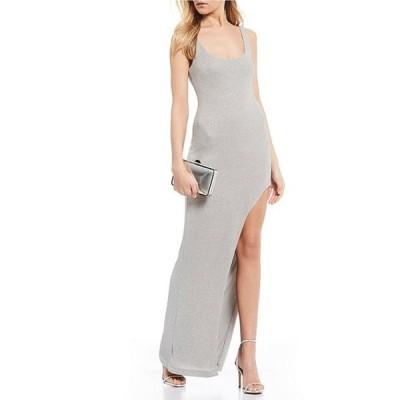 ビーダーリン レディース ワンピース トップス Square Neck Leg Cut-Out Glitter Long Dress