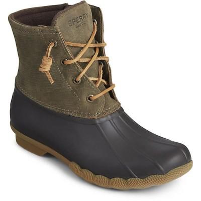 スペリー ブーツ&レインブーツ レディース シューズ Sperry Women's Saltwater Boot Brown / Olive
