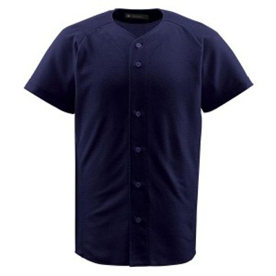 DESCENTE ヤキュウ ソフト ジュニアフルオープンシャツ 16SS ネイビー ヤキュウユニホーム(jdb1010-nvy)