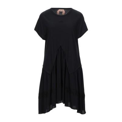 ヌメロ ヴェントゥーノ N°21 ミニワンピース&ドレス ブラック 38 コットン 100% / アセテート / シルク ミニワンピース&ドレス
