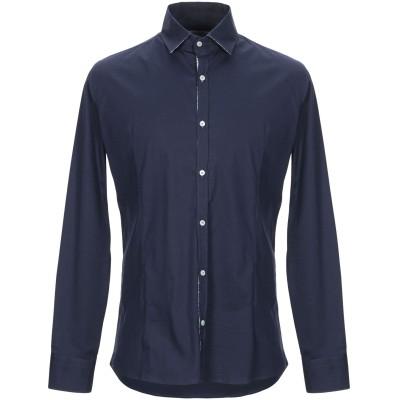 ロベルト ペペ ROBERTO PEPE シャツ ダークブルー S コットン 97% / ポリウレタン 3% シャツ
